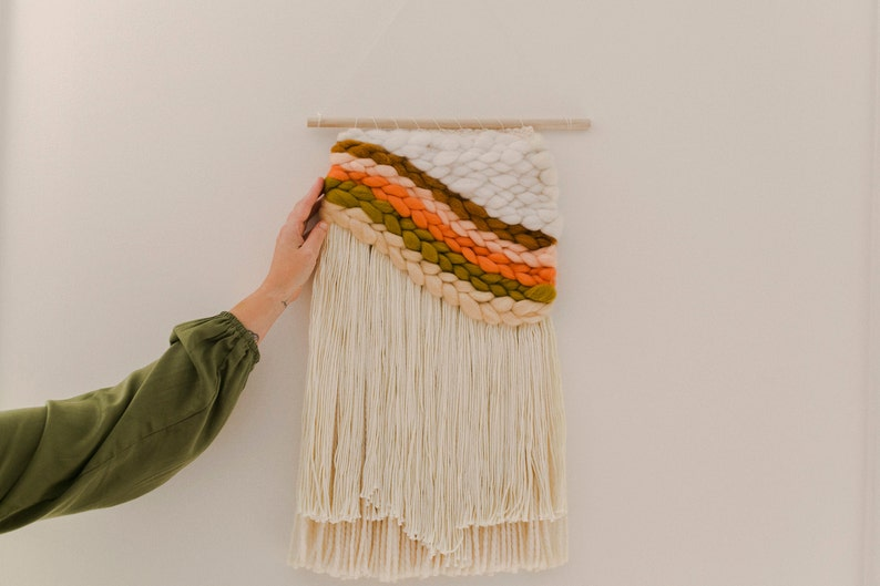 A Beautiful Mess x Etsy Handwoven Rainbow Wall Hanging image 0
