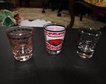 Vintage Advertisement Shot Glasses, Shot Glass Set,