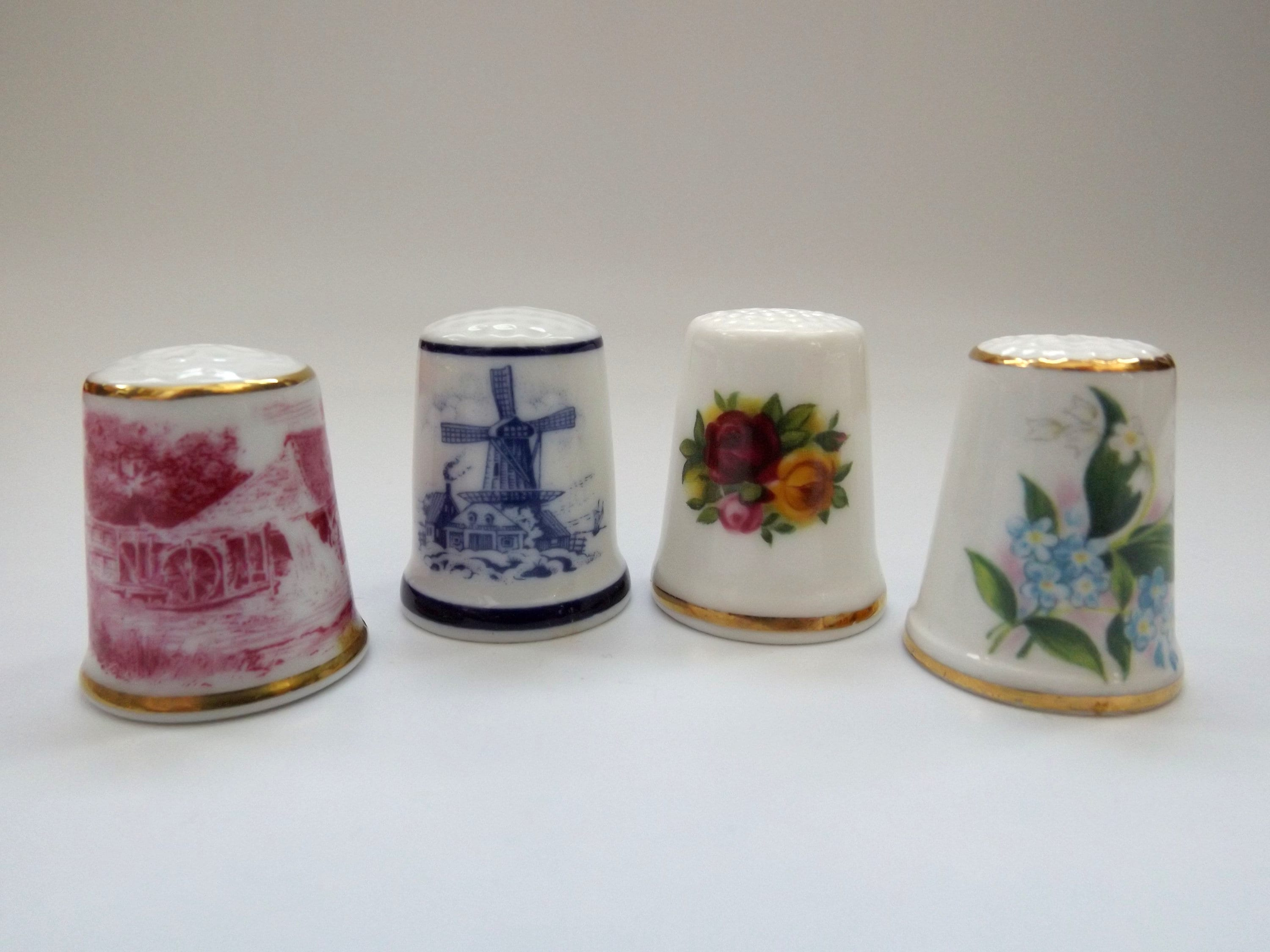 Free Gift Box Porcelain China Collectable Thimble Travel Poster Series Holland