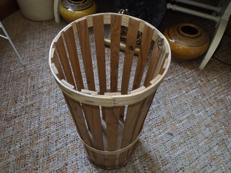 Wooden Umbrella Stand Maribelle Entryway Basket Slat Wood