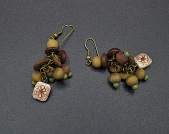 Handcrafted Wood Dangle Earrings