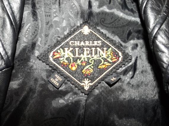 Vintage Leather Coat, Trench Coat, Black Leather C