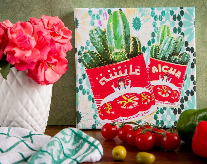 Impression Pop Art sur Toile - Cactus en conserve