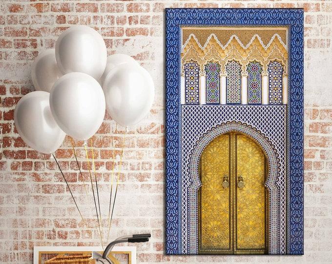 Photographie sur Toile - Porte Marocaine - Palais Royal de Fès - Maroc