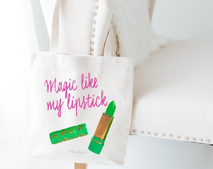 Tote Bag - Cotton ecru - Pop Art - Magic Lipstick