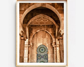 Print on fine art print or canvas - Architecture Moroccan - Casablanca - Morocco - wall decor - travel