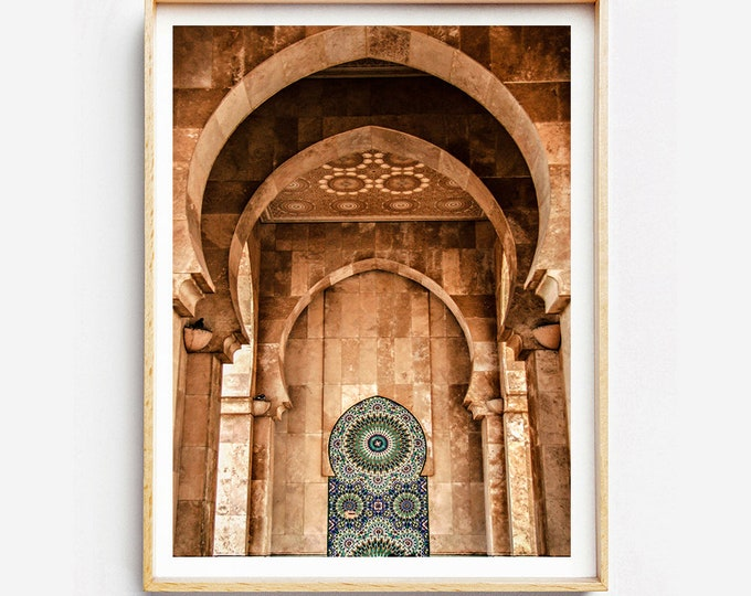 Print on fine art print or canvas - Architecture Moroccan - Casablanca - Morocco - wall decor - travel