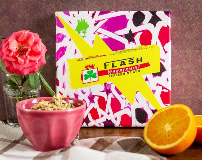 Impression Pop Art sur toile - Chewing-Gum Flash