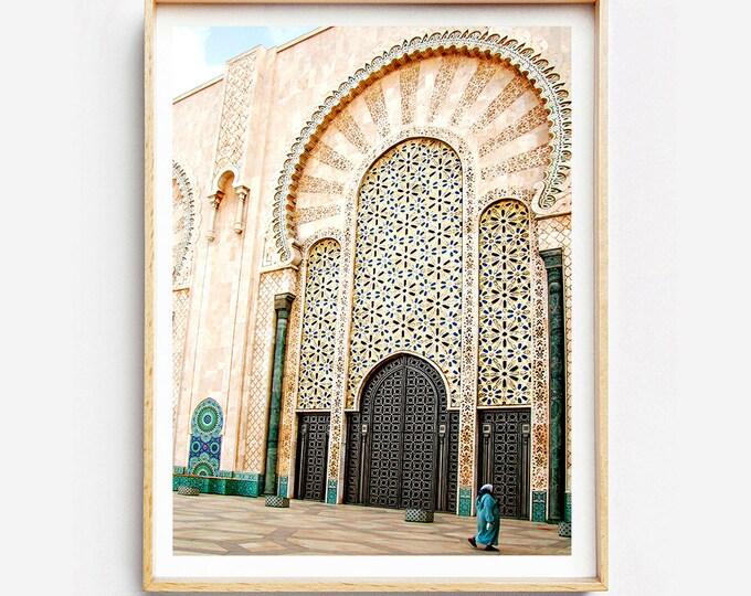 Impression sur Tirage ou Toile  - Mosquée Hassan II - Casablanca - Maroc