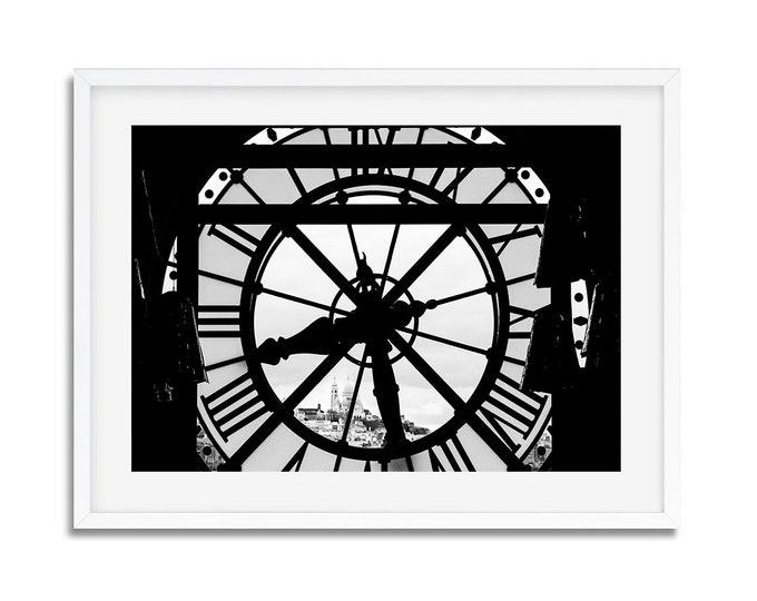 Photographie Fine Art en Noir & Blanc de l'Horloge du Musée d'Orsay à Paris - France