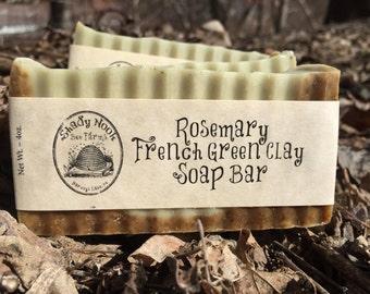 Rosemary French Green Clay Soap Bar