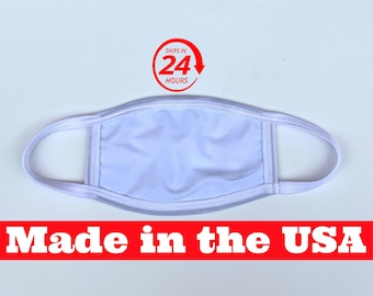 White double-layered dust mask - Soft, machine washable and free shipping come check it out
