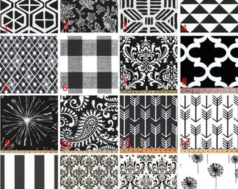 Black Window Valances-Window Treatments-You Choose Your Size and Pattern
