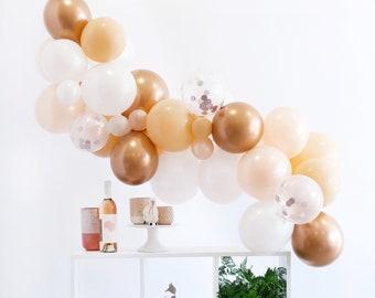 Blush Balloon Garland Kit - Peach Blush Copper  - Custom Size Balloon Arch DIY