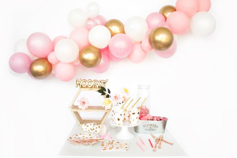 Custom Size Balloon Arch DIY Pink /& Gold Balloon Garland Kit