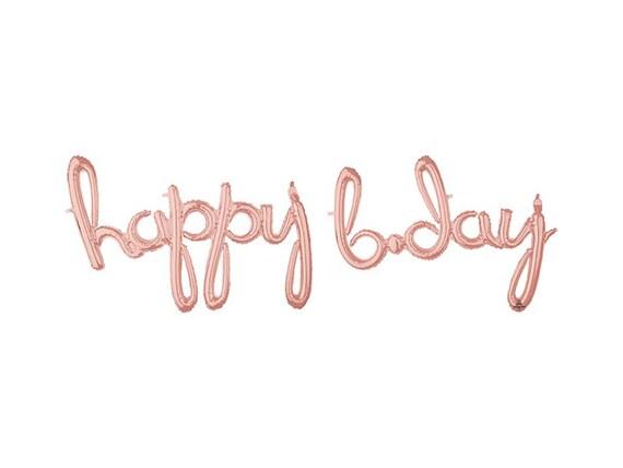 Happy Bday Script Letter Balloons