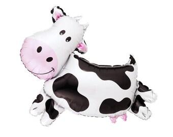 Ballon de vache - Mylar Jumbo des animaux de ferme