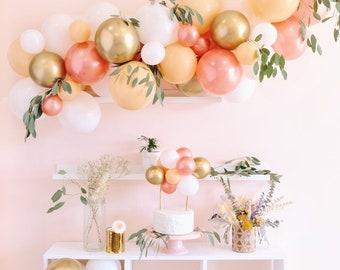 Rose Gold & Blush Balloon Garland Kit - Custom Size Balloon Arch DIY