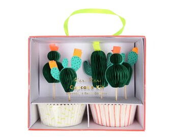 Cactus Cupcake Toppers - Set of 24 - Paper Party Decor