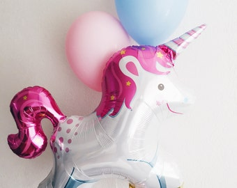 Trio de licorne ballon - ballon de partie de licorne JUMBO mylar