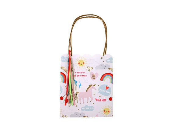 Unicorn Gift Bag Set Of 8 Etsy