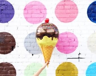 Crème glacée ballon - 3D jumbo mylar ballon de crème glacée