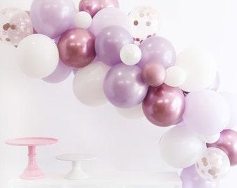 Lavender Balloon Garland Kit  - Custom Size Balloon Arch DIY