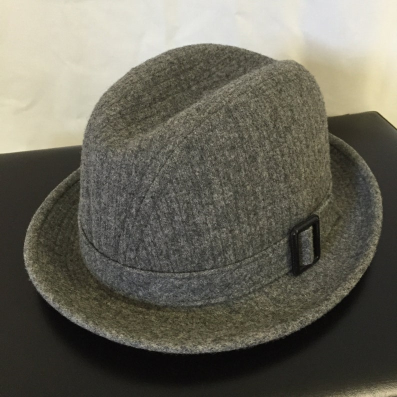 46db6594dd4ca Vintage Mens Fedora Hat Pendleton 100% Virgin Gray Wool Made