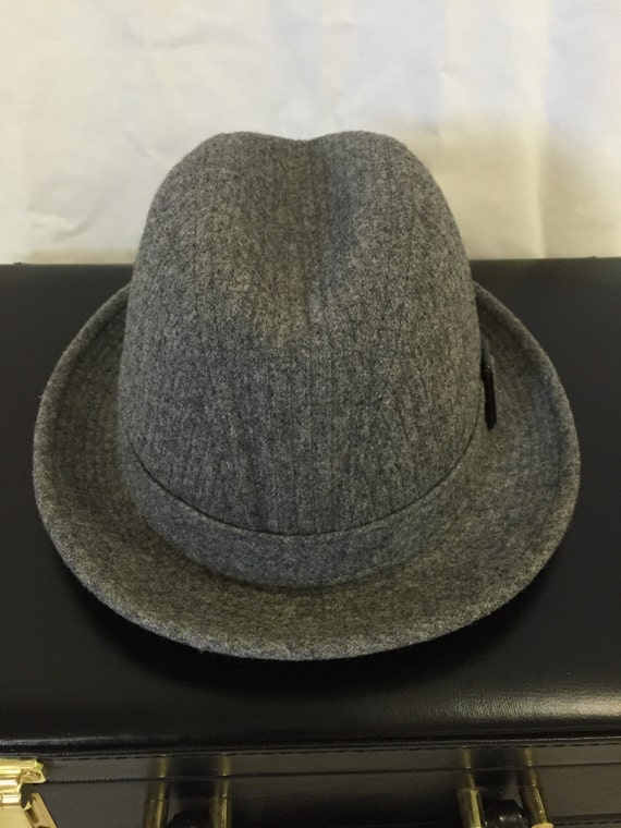 Vintage Mens Fedora Hat Pendleton 100% Virgin Gray Wool Made  8fb1d715b664