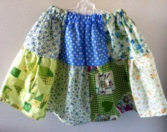 Girls patchwork skirt size 4/5