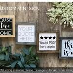 Custom MINI Sign