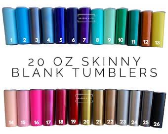 20 oz Skinny Blank Solid Colors Stainless Steel Tumbler DrinkWare Water Bottle wholesale