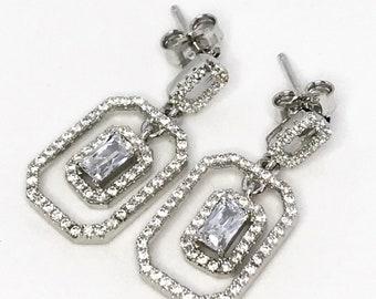 Gorgeous Dangling Sterling Silver Earrings