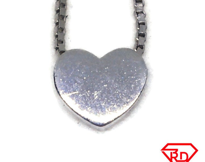 Tiny Heart white gold on silver pendant charm