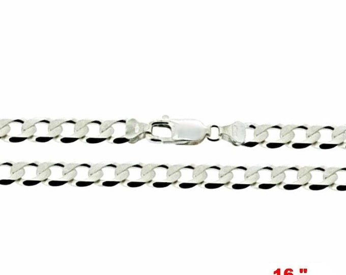 Precious italian sterling silver anti-tarnish curb link chain 2.2 mm 16 ""