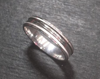 New 14k white gold layer on silver handmade wedding fancy cut ring band 3.8mm s6