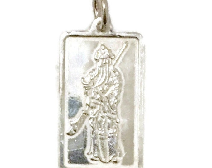 Brand New Silver Pendant Quan Yu and chinese characters ( 14 . 2 mm )