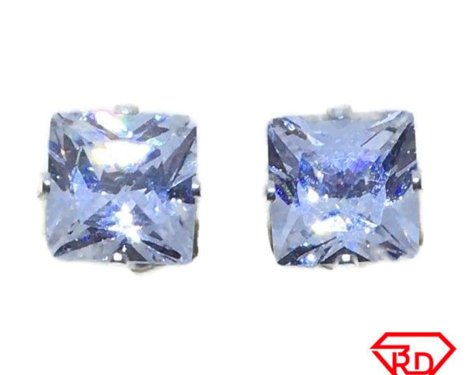 White princess CZ extra extra large Stud Earrings 925 silver