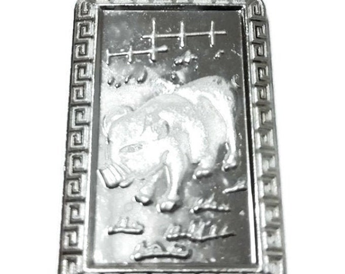 Chinese Zodiac Horoscope 999 fine Silver Year of Boar / Pig Pendant