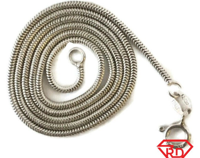 Brand New Anti-tarnish Silver Necklace 16 inch Snake chain with spring ring clasp