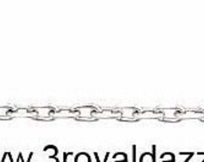 """Brand new precious italian 925 sterling silver diamond cut cable chain 1 mm 18 """""""