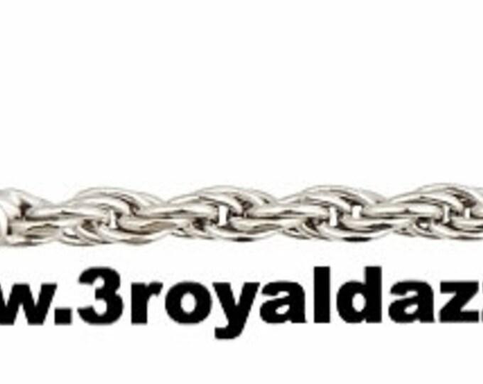 "Precious Italian .925 Sterling Silver Fashion Classic Rope Chain 1.5 MM 18 """