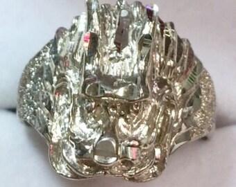 Personalizado hecho a mano asiático china talla diamante bling diseño dragón
