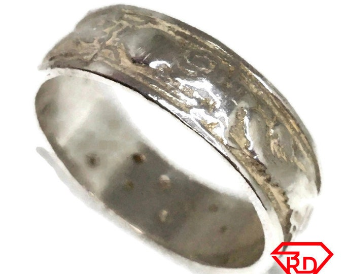 Thin Dragon chinese ring 925 solid Silver (size 11)