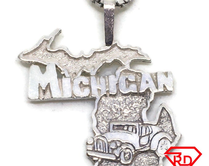 Michigan State tiny charm pendant 925 Solid Silver
