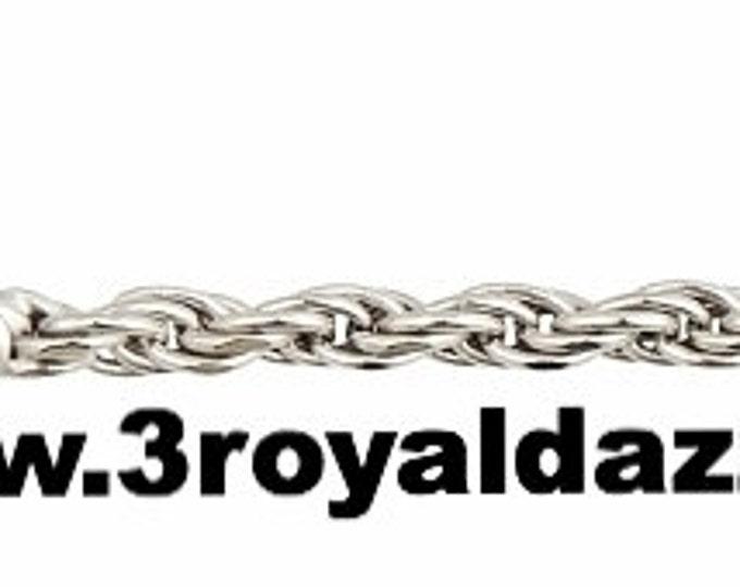 "Precious Italian .925 Sterling Silver Fashion Classic Rope Chain 1.5 MM 16 """
