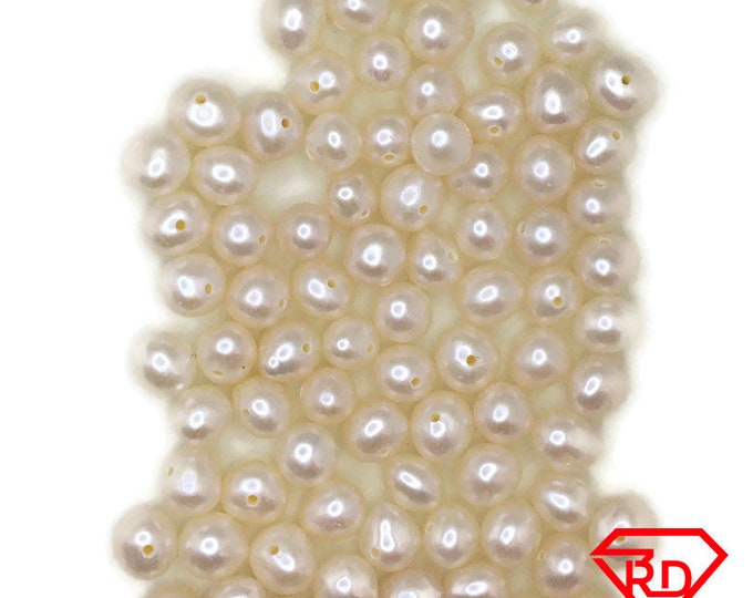 Oval pearls fresh water jewelry making 75 pcs