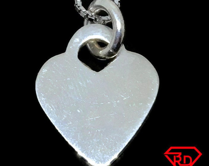 Small Love Heart charm pendant 925 Sterling Silver
