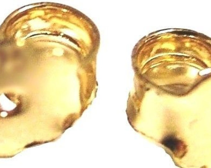 2 pcs medium butterfly earring backing 14k gold layer on solid sterling silver