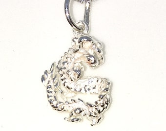 Brand New 925 Solid Sterling Silver Tiny Pendant with Dragon Zodiac and Free chain